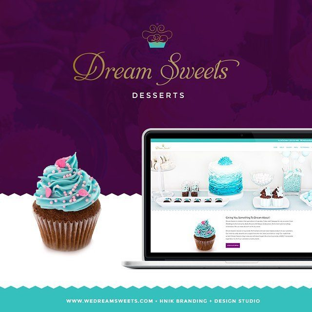 dreamsweets new website  logo is finally complete to sharehellip